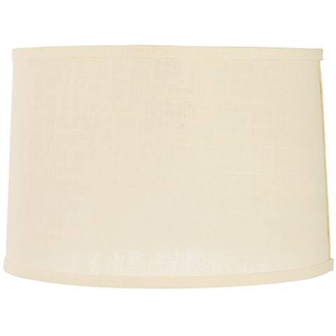 Cream Burlap Drum Lamp Shade 15x16x11 (Spider)