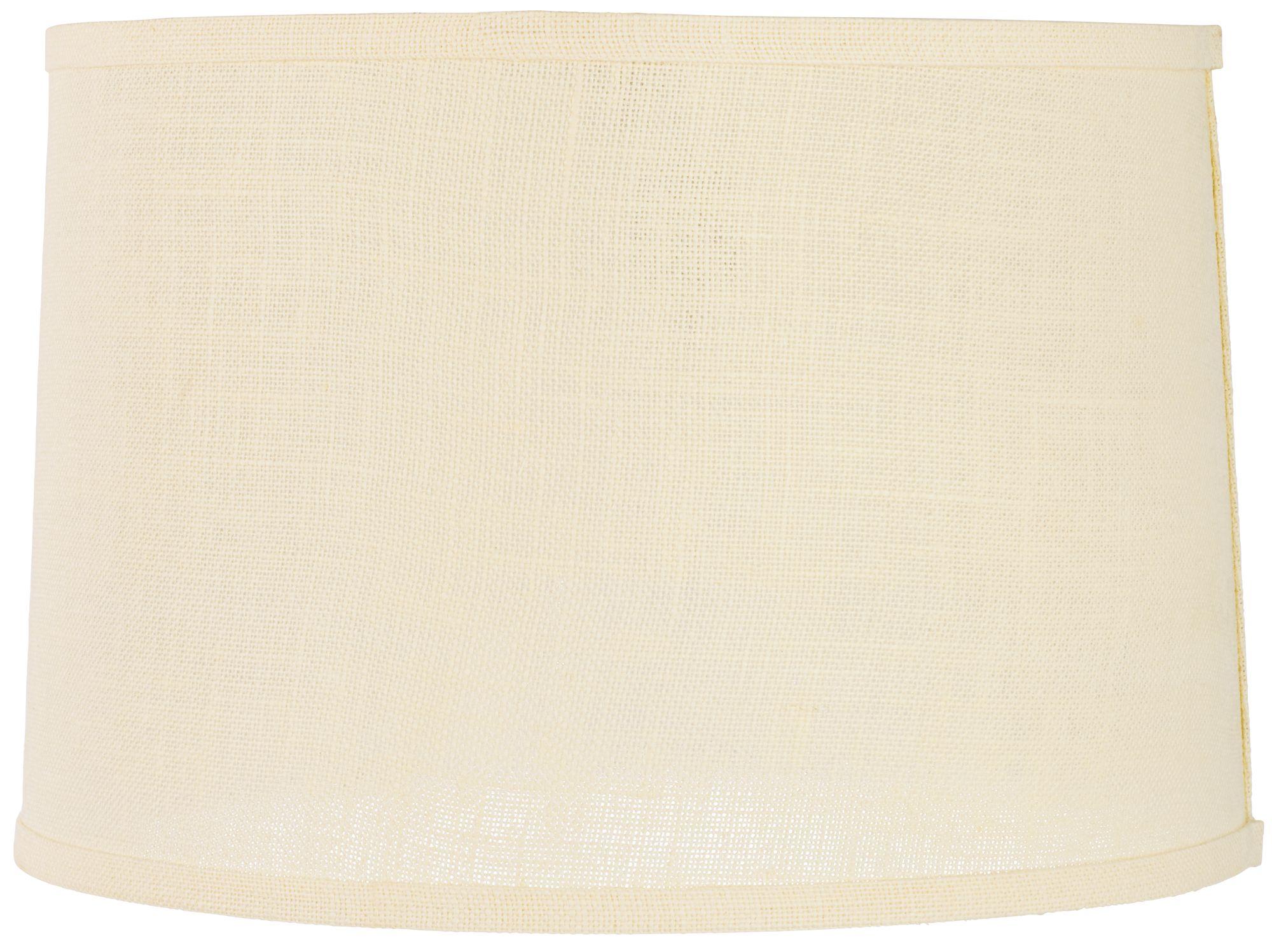 cream burlap drum lamp shade 15x16x11 spider