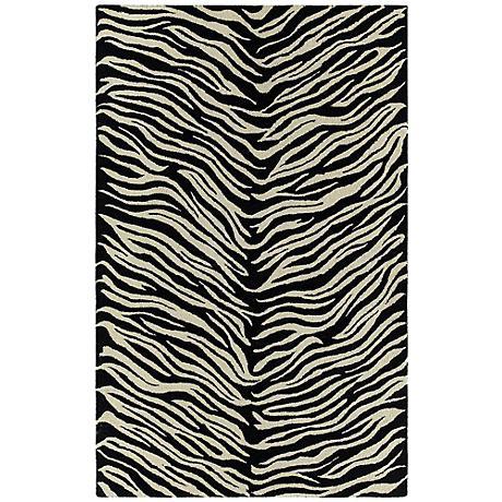 Kaleen Khazana 6604-01 Tanganyika Black/Ivory Rug