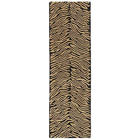 Kaleen Khazana 6604-62 Tanganyika Ebony/Gold Rug
