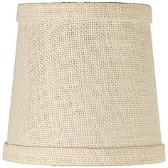 3 to 7 inch chandelier shades burlap lamp shades lamps plus cream burlap lamp shade 4x5x5 clip on aloadofball Choice Image