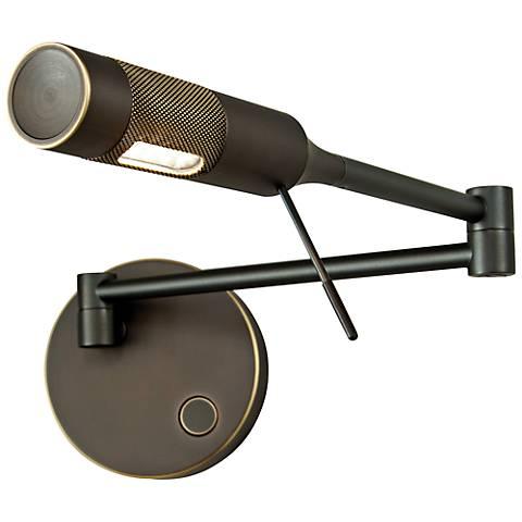 Holtkoetter Cleo LED Old Bronze Left Swing Arm Wall Lamp