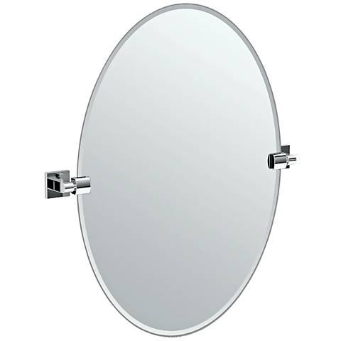 "Gatco Elevate Chrome Oval 24"" x 26 1/2"" Wall Mirror"