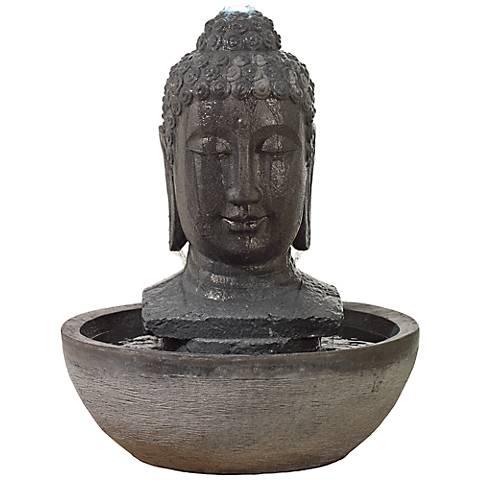 "Lampa Gray Buddha LED 31"" High Fountain"