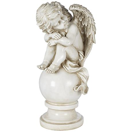 "Alsey II Sleeping Cherub 21 1/2"" High Outdoor Statue"