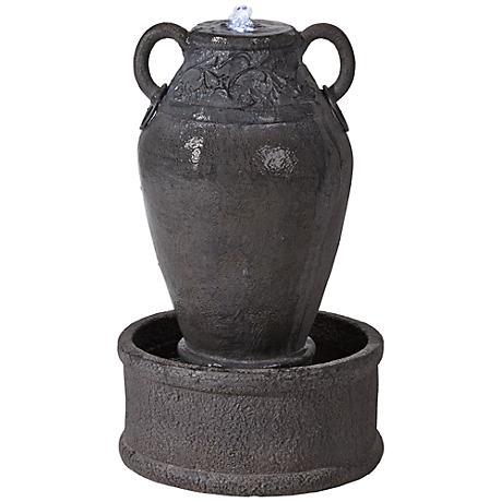 """Mateil Faux Stone 27"""" High Antique Pot Fountain"""
