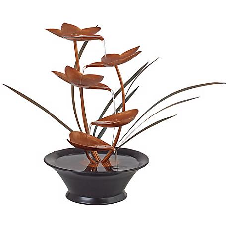 Bloomfield Copper Flower Tabletop Fountain