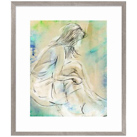 """Figurative Hues 28"""" High Giclee Framed Wall Art"""