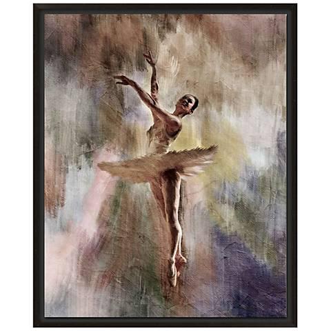 """Ballet Dancer 30"""" High Giclee Canvas Framed Wall Art"""