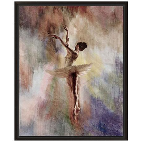 """Ballet Dancer II 30"""" High Giclee Canvas Framed Wall Art"""