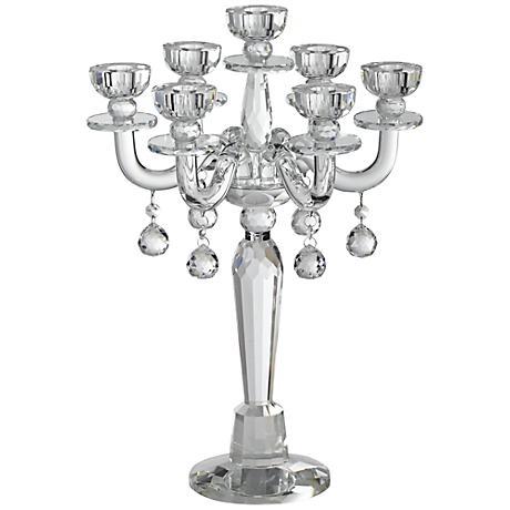 Huntington Crystal Candelabra Taper Candle Holder
