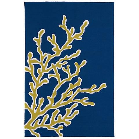 Kaleen Matira MAT01-17 Blue Indoor-Outdoor Area Rug