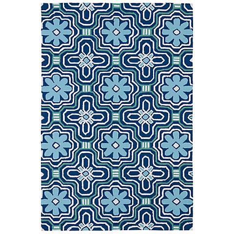 Kaleen Matira MAT02-17 Blue Indoor-Outdoor Rug