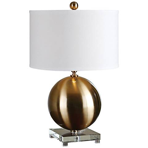 Uttermost Laton Brushed Brass Table Lamp