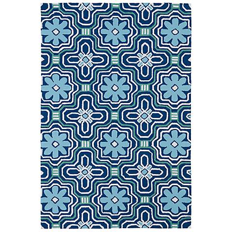 Kaleen Matira MAT02-17 Blue Indoor-Outdoor Rug
