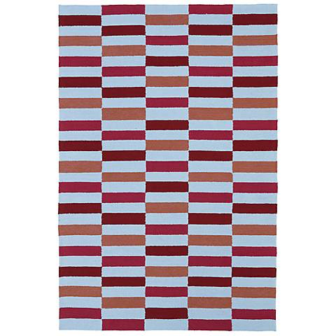 Kaleen Matira MAT03-08 Cranberry Indoor-Outdoor Rug