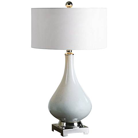 Uttermost Helton Aged Ivory Table Lamp