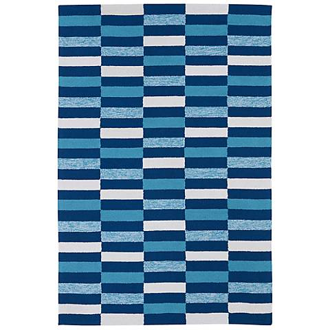 Kaleen Matira MAT03-17 Blue Indoor-Outdoor Rug