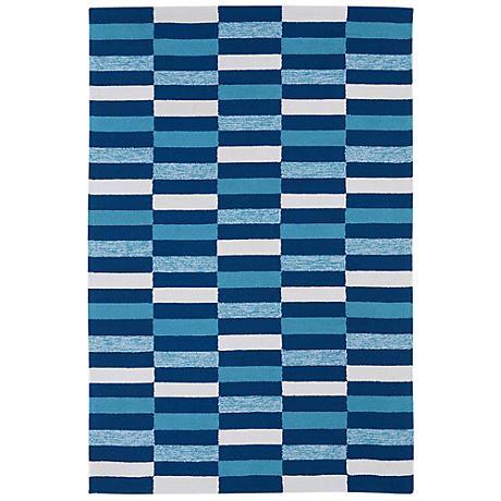 Kaleen Matira MAT03-17 Blue Indoor-Outdoor Rug