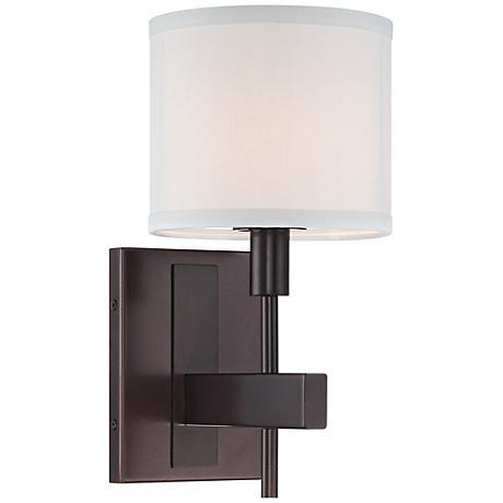 orson 13 1 2 high tiger bronze wall sconce 4t070 lamps plus. Black Bedroom Furniture Sets. Home Design Ideas