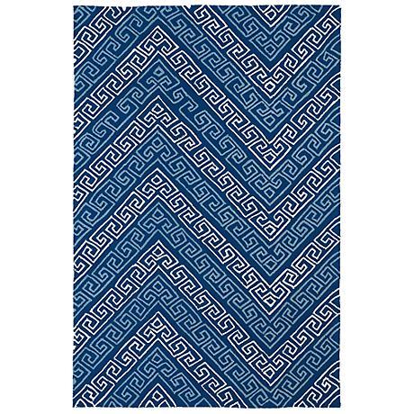 Kaleen Matira MAT11-17 Blue Indoor/Outdoor Rug