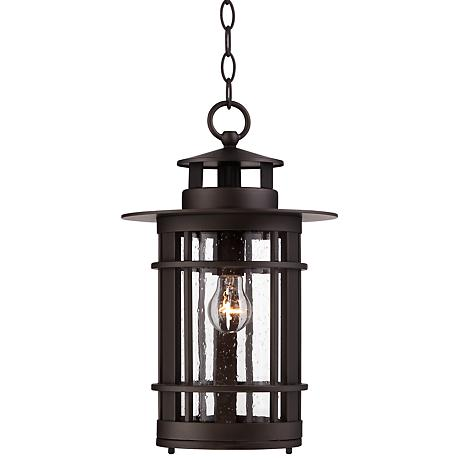 """Argentine 16 1/4""""H Seedy Glass Outdoor Hanging Light"""