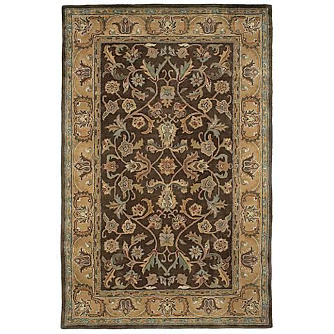 Kaleen Mystic 6001-40 William Chocolate Wool Rug