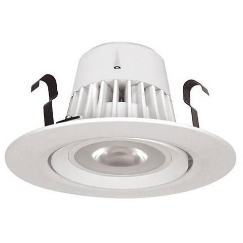 "4"" Swivel 10 Watt LED Retrofit Trim in White"