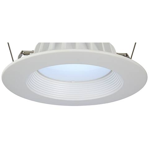 """6"""" Recessed 11-W  Dimmable LED Retrofit Light Trim in White"""