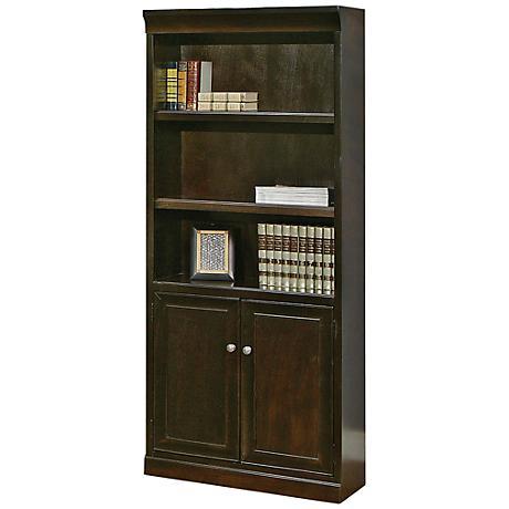 Kathy Ireland Home Fulton 5-Shelf Bookcase with Doors