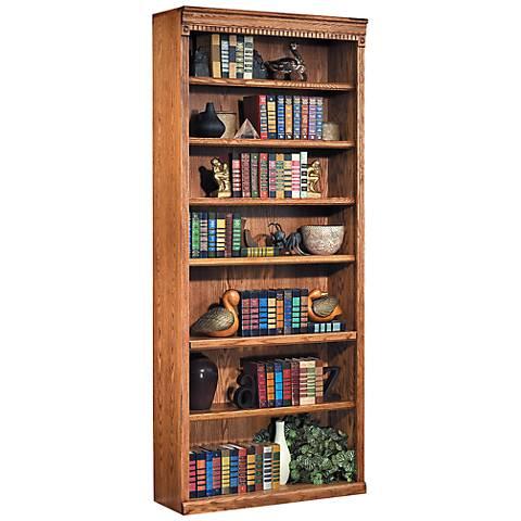 "Kathy Ireland Home Huntington 84"" Wheat Bookcase"