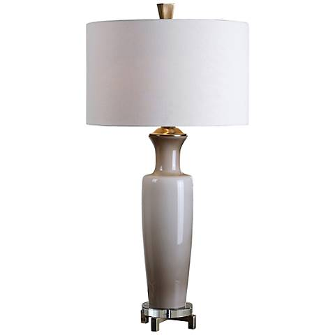 Uttermost Consuela Gray Glass Table Lamp
