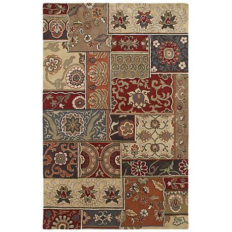 Kaleen Mystic 6061-38 Aral Charcoal Wool Area Rug