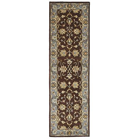 Kaleen Mystic 6062-49 Agean Brown Wool Area Rug