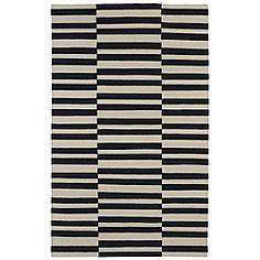Kaleen Nomad NOM01-02 Black 8'x10' Wool Area Rug