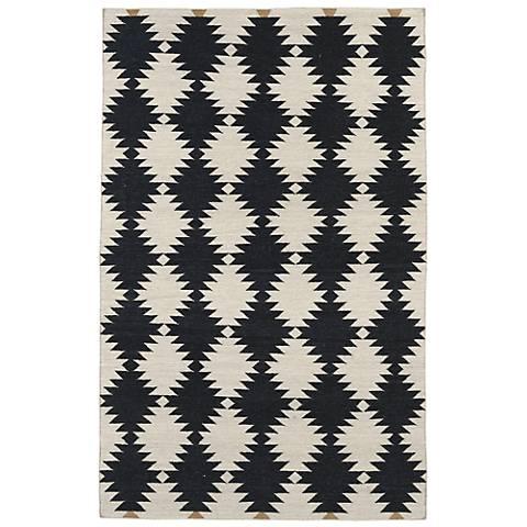 Kaleen Nomad NOM02-02 Black Wool Area Rug