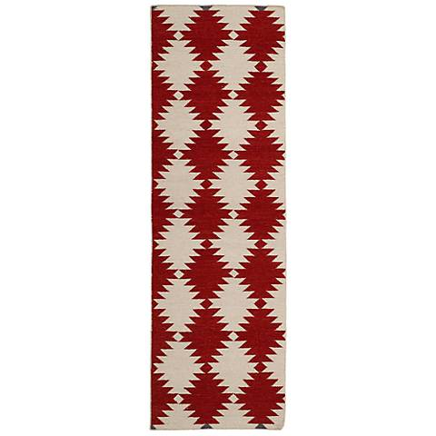Kaleen Nomad NOM02-28 Red Wool Area Rug