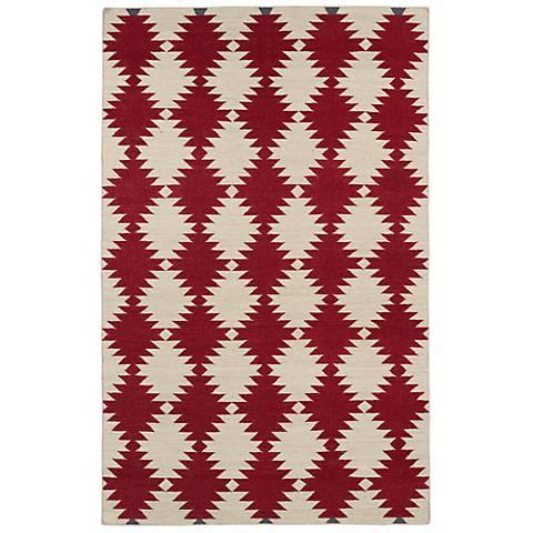 Kaleen Nomad NOM02-28 Red Wool Area Rug