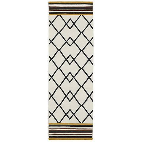 Kaleen Nomad NOM03-02 Black Wool Area Rug