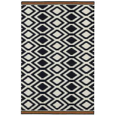 Kaleen Nomad NOM04-02 Black Wool Area Rug