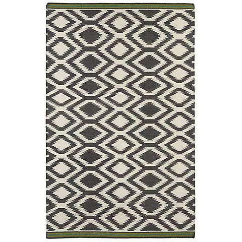 Kaleen Nomad NOM04-75 Gray Wool Area Rug