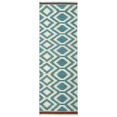 Kaleen Nomad NOM04-78 Turquoise Wool Area Rug