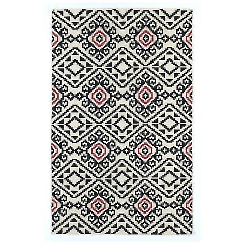 Kaleen Nomad NOM05-02 Black Wool Area Rug
