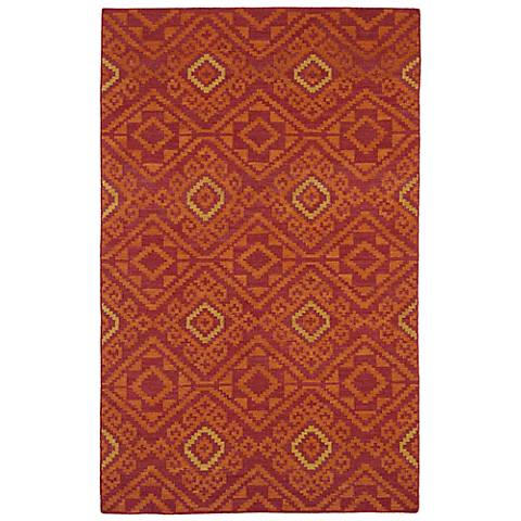 Kaleen Nomad NOM05-25 Red Wool Area Rug