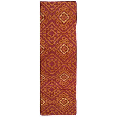 Kaleen Nomad NOM05-25 Red Wool Area Rug