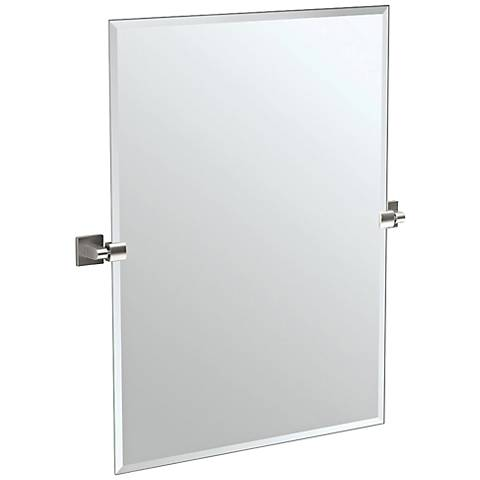 "Gatco Satin Nickel 27 1/2"" x 31 1/2"" Wall Mirror"