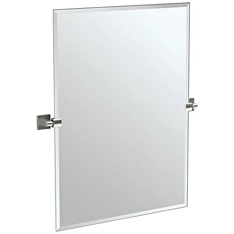 "Gatco Satin Nickel 27 1/2"" x 31 1/2"" Wall Mirror"