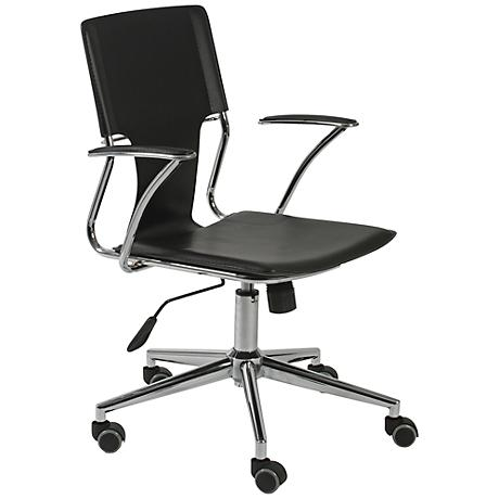 Terry Black Faux Leather Office Chair