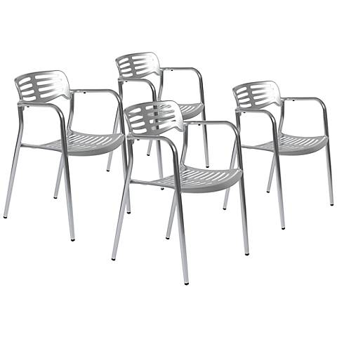 Set of 4 Helen Stackable Side Chairs
