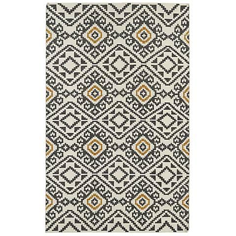 Kaleen Nomad NOM05-38 Charcoal Wool Area Rug
